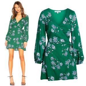 CUPCAKES & CASHMERE | Floral Faux Wrap Dress